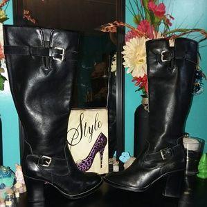 Michael Kors- leather heeled knee boots